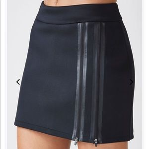 Fabletics Black Zippered Coronado Stretch Skirt